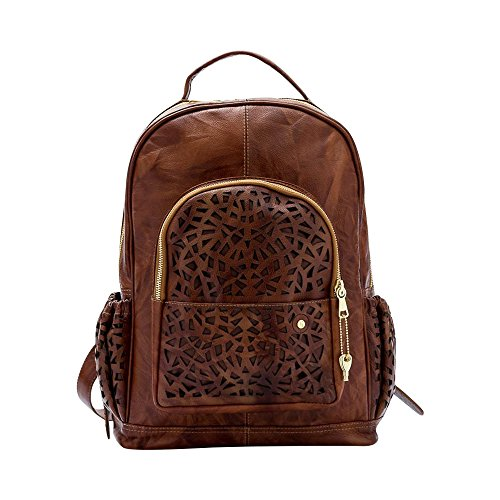 Gaspy Alex Women's Backpack, 100 Percent Colombian Leather (Honey) by Gaspy