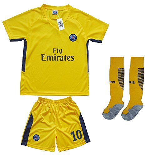 reputable site 97b3f 9724c 2017/2018 PARIS SAINT GERMAIN PSG #10 NEYMAR JR AWAY YELLOW ...