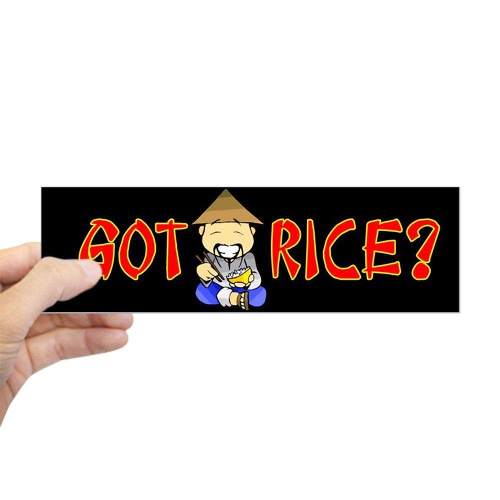 Cafepress got rice bumper sticker 10x3 rectangle bumper sticker car decal amazon co uk kitchen home
