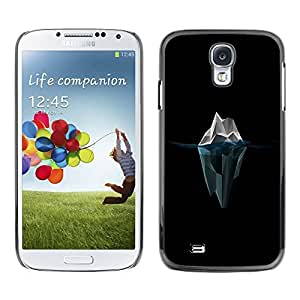 Paccase / SLIM PC / Aliminium Casa Carcasa Funda Case Cover para - Polygon Iceberg - Samsung Galaxy S4 I9500