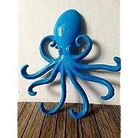 Ocean Blue Cast Iron Octopus Jewelry Multi Hook - Keys - Organizer - Wall Art