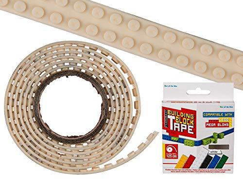 OOTB 36x Weißes Flexibles Baustein Tape zum Aufkleben 125x1,6cm in Farbbox