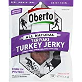Oberto All Natural Teriyaki Turkey Jerky, 3.25-Ounce Bag (Pack of 4)
