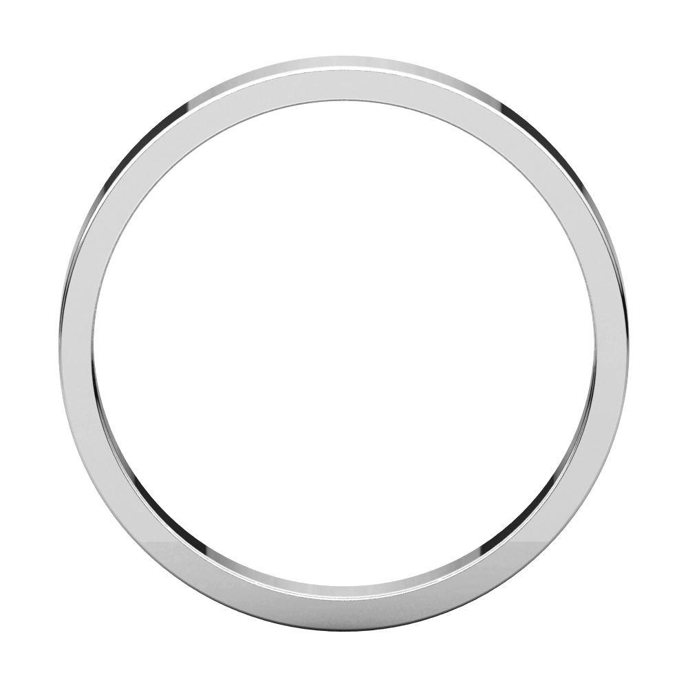 Bonyak Jewelry 10k White Gold 3 mm Flat Band Size 9.5