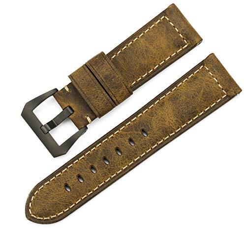 iStrap 24mm Assolutamente Calf Leather Padded Watch Band for Panerai Radiomir Luminor 1950 or Luminor (Replica Panerai)