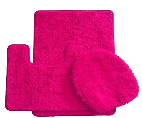 3 Piece Premuime Luxury Acrylic Bath Rugs Set Large 18