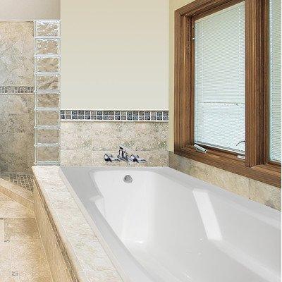 Designer entre whirlpool bathtub almond for Bathtub material comparison