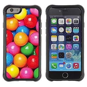 Suave TPU GEL Carcasa Funda Silicona Blando Estuche Caso de protección (para) Apple Iphone 6 / CECELL Phone case / / candy colorful reflective pink pattern /