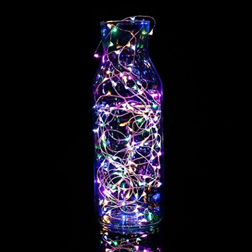 Home Décor Usstore 1M String Fairy Light 10 LED Battery Operated Xmas Lights Party Wedding Lamp (Multicolor)