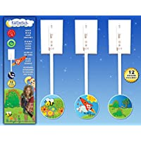 KidSwitch Lightswitch Extension for Toddlers - Laurie Berkner Edition - 3 unidades - Incluye 12 calcomanías temáticas de arte - ¡GANANDO EN PREMIOS MÚLTIPLES!