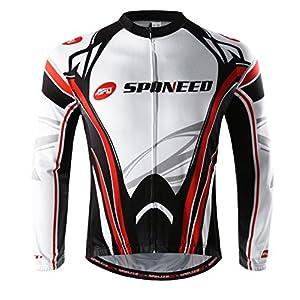 Cycing Jersey for Men Bicycle Riding Shirts Wear Bike Gear Outdoor Biking US M Multi Red