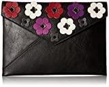 Image of Rebecca Minkoff Floral Applique Leo Clutch, Black/Multi