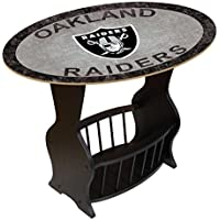Fan Creations N0818-OAK Oakland Raiders Distressed End Table