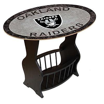 Fan Creations N0818 OAK Oakland Raiders Distressed End Table
