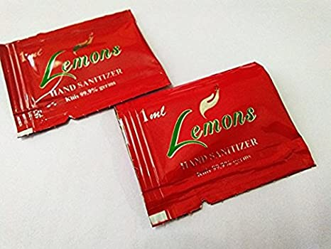 Buy Lemons Hand Sanitizer 1ml Sachet Pack 100 Online At Low