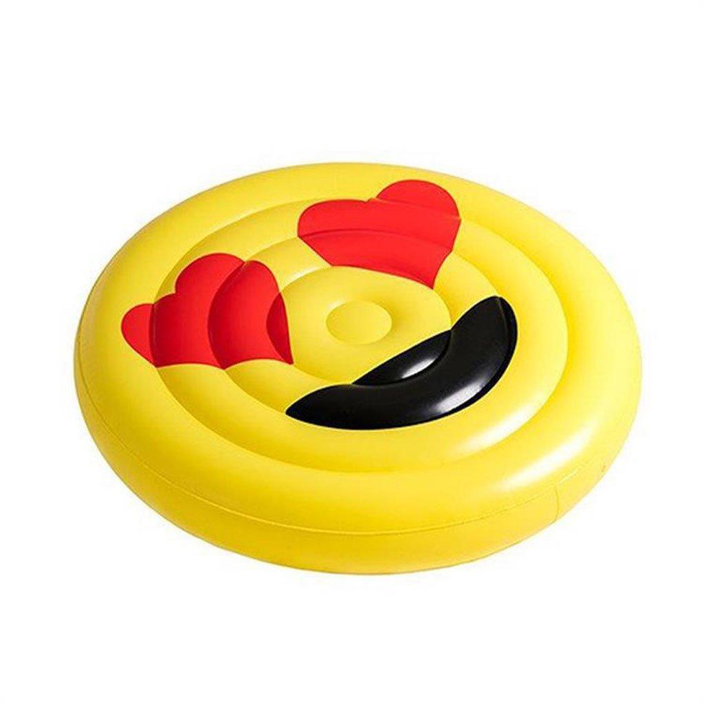 garantía de crédito Fila flotante Cama flotante Inflable Cara sonriente Peacheye Peacheye Peacheye Jugar juguetes Espesar Agua hinchable Monturas Expresión de personaje (Color : C)  directo de fábrica