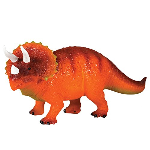 Dinosaur Lamp Childrens (Discover with Dr. Cool Glowing Dinosaur Children's Night Light and Bedroom Decoration - Realistic Triceratops)