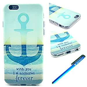 6 Case, Iphone 6 Case Luolnh Anchor Forver Pattern Clear TPU Silicone Gel Back Cover Skin Soft Case for Iphone 6 £š4.7 Inch£©