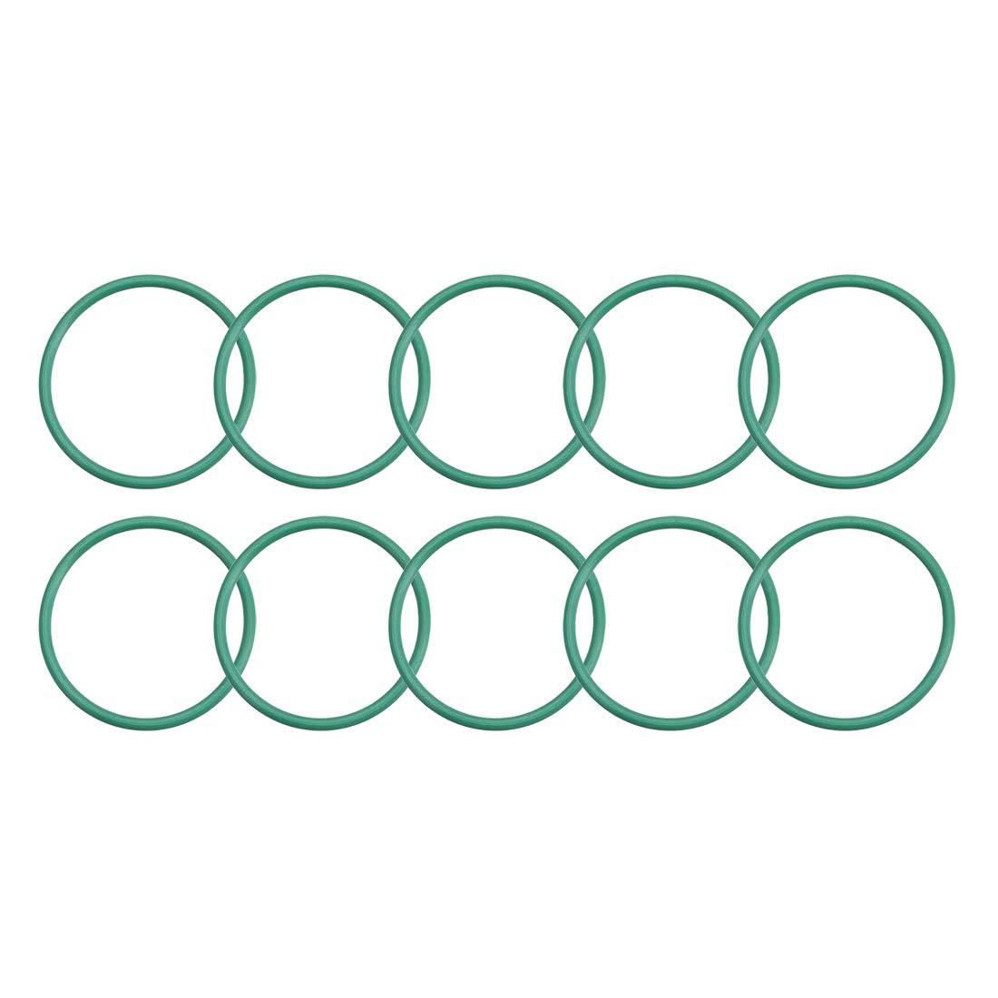 1.5mm Width 29mm Inner Diameter uxcell Fluorine Rubber O Rings Seal Gasket Green 10Pcs 32mm OD