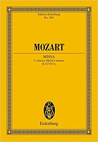 Book MASS IN C MINOR K427 (MISSA) STUDY SCORE (Edition Eulenburg)