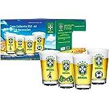 Conjunto com 4 Copos para Cerveja 350 Ml Cbf Globimport Transparente