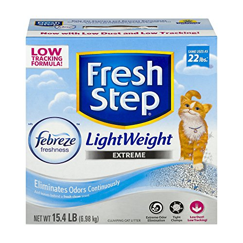 Fresh Step Lightweight Extreme with Febreze Freshness, Clumping Cat Litter, Scented, 15.4 Pounds (3 Box)