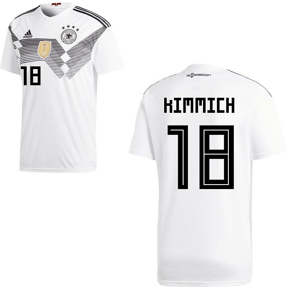 Kimmich grand Fan sport24 DFB Allemagne Football Maillot D'accueil de la Coupe du Monde 2018 pour Hommes et Enfants, avec Le nom du Joueur