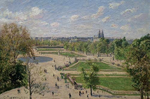 ArtParisienne Garden of The Tuileries in The Spring Camille Pissarro 32x48-inch Wall Decal