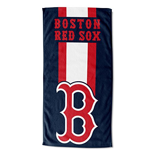 MLB Boston Red Sox Zone Read Beach Towel, Blue, 30'' x 60'']()