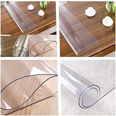 toptableclothes Protector de Mesa de PVC Transparente (2 mm ...
