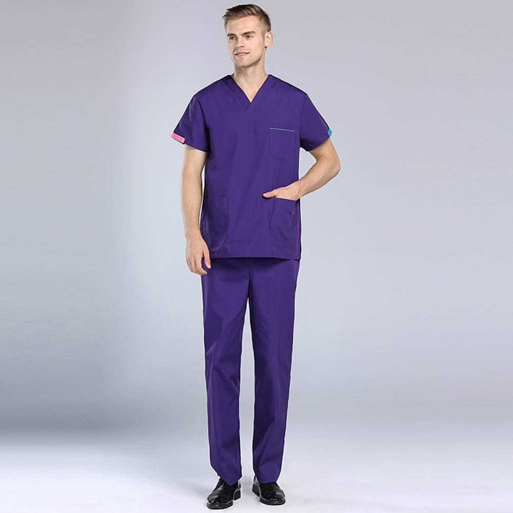 ... Uniforme de Enfermera Hospital Médico Salón de Belleza Conjunto de Mangas Cortas Hombres Uniformes médicos quirúrgicos: Amazon.es: Deportes y aire libre