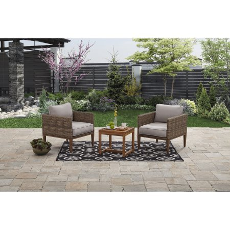 Better Homes and Gardens Davenport 3 pc Woven Chat Set For Sale