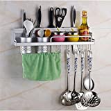 Kitchen Wall Pot Pan Rack, 6-in-1...