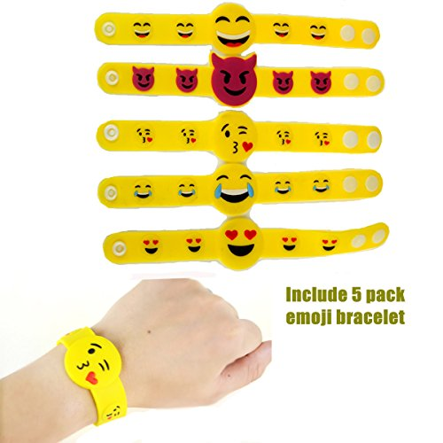 Slap Bracelets, 35 PCS Birthday Party Favors Gifts (25 Designs Slap Bracelets + 5 Reversible Sequin Mermaid Bracelets + 5 Silicone Emoji Bracelets), Charming Wristband for Kids and Adults. by JACHAM (Image #4)