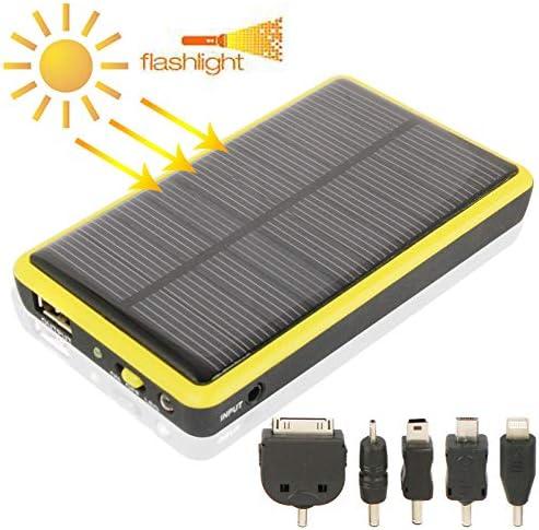 太陽電話充電器 2600mAh、ソーラー充電器とソーラーパネル(黄色) (Color : Yellow)