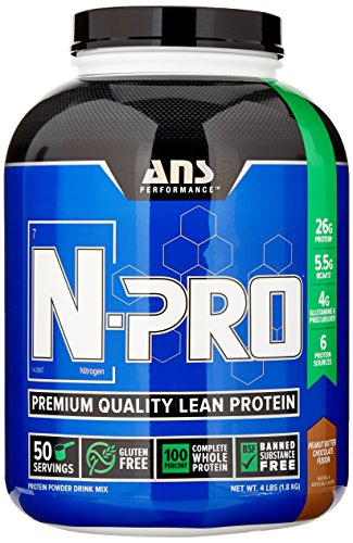 ANS Performance N-Pro, Premium Quality Banned Substance Free Lean Protein, Peanut Butter Chocolate Fusion, 4 Pound/ 52 Servings