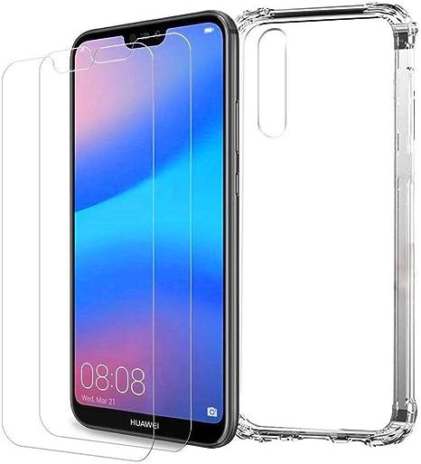 Huawei P20 Lite Funda y Protector de Pantalla *2, MISSDU ...