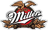 wall decals beer - U$TORE Vinyl Sticker MILLER Beer Logo Decorative Decal For Bar Wall Windows Truck Car Bumpers Laptop Water Resistant - 4