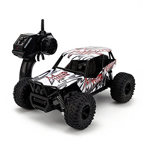 STOTOY Remote Control Car,High Speed Off Road Monster RC Truck - 1/16 Scale 4WD 2.4Ghz Radio Controlled Electric Truggy - Best Gift for Kids and Adults-Red
