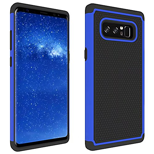 Price comparison product image Galaxy Note 8 Case, ARSUE [Scratch Resistant] Premium Heavy Duty Hybrid Dual Layer Armor Defender Protective Case Cover for Samsung Galaxy Note 8 (2017), Blue