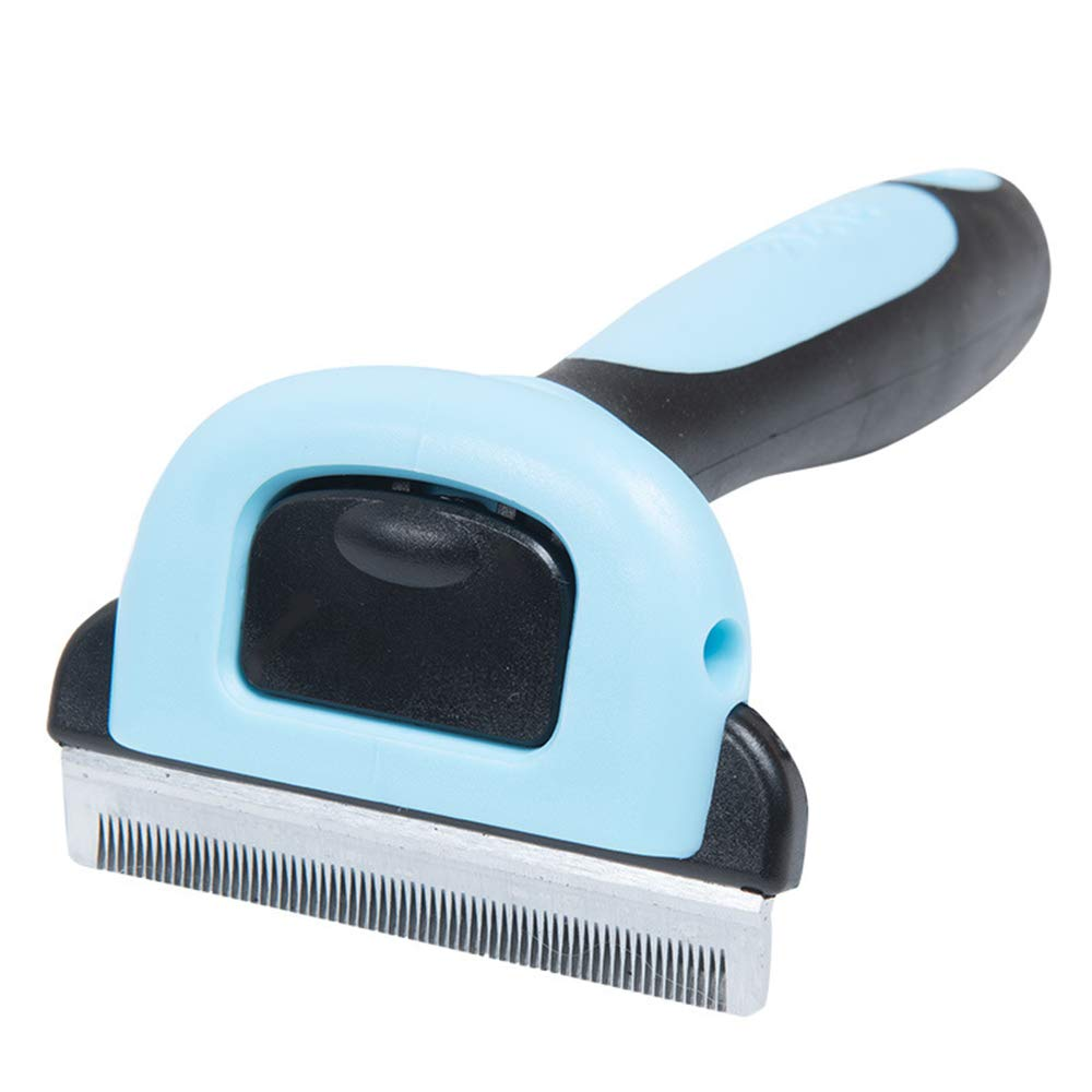 CICIN Detachable Pet Comb for Dogs Cats - Pet Grooming Rake Handheld Undercoat Grooming Tool for Long or Short Hair,Blue,M