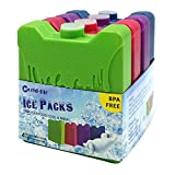 Freezer Blocks Lunch Ice Packs Kids Cool Freezer Chillers Slim for Cooler Bag or Box, Keep Food Cold Fresh Health, Mini Multicolored, Gifts for Children Adults, Set of 4.