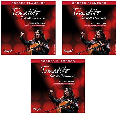 Savarez T50R Tomatito Cuerdas Guitarra Flamenca 3 Juegos