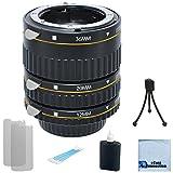 Auto Focus Macro Extension Tube Set for Nikon D5500, D810, D750, D300, D300S, D600, D700, D800, D800E, D3000, D3100, D3300, D3200, D5000, D5100, D5200, D5300, D7000, D7100 DSLR Camera + Complete Starter Kit