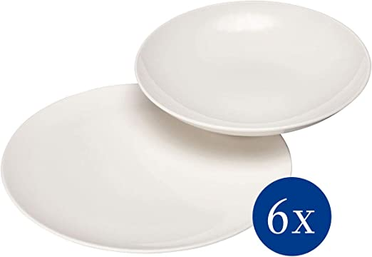 vivo by Villeroy /& Boch Group Basic White Bowl Premium Porcelain Set of 6 White