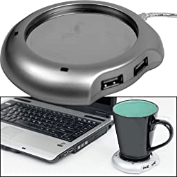 USB Cup Warmer with 4-port USB Hub PC Laptop