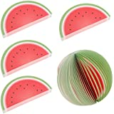 MagiDeal 5 Pieces Creative 3D Fruit Memo Pad Sticky Notes Office Supply - Watermelon