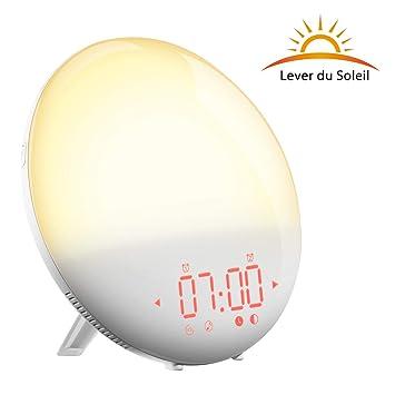 Réveil De Sons 9 Soleil Alarmefm Radio Reveilsimulation D'alarmesnooze Lever Mins 6 20 Du Lumière Chevetdouble Niveaux Holifelampe ZiuwOPXkT