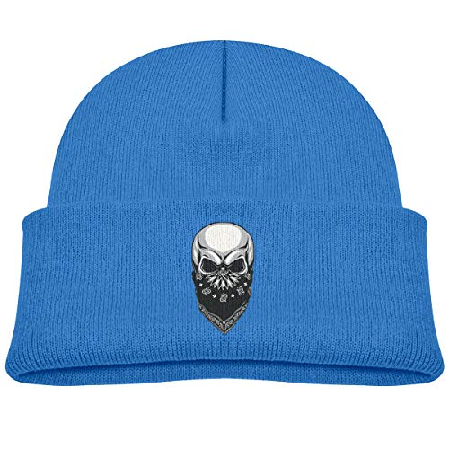 Infant Toddler Baby Kids Knitted Beanies Hat Cool Masked Skull Winter Hat Knitted Skull Cap for Boys Girls Blue ()