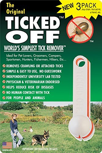 The Original Ticked Off Tick Remover Three (3) Pack  with Key Hole family Colors May (Tick Removal Tool)